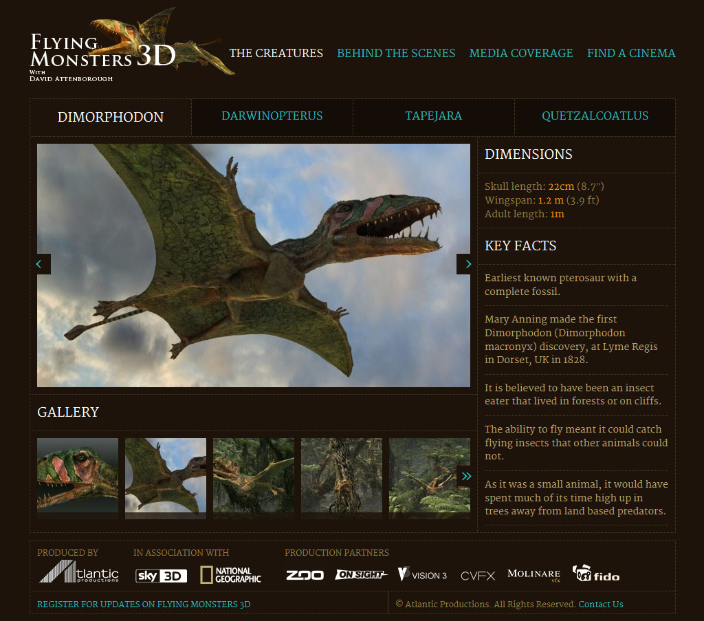 Website for a David Attenborough TV series | Yes We Work
